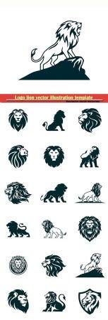 Logo lion vector illustration template