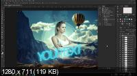 Видеоурок на экшен. Большой Пак Экшенов. Photoshop Pack Action (2018)