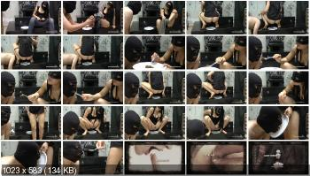 Humiliation Scat (Mistress Gaia) Feeds her slave [HD 720p] Femdom, Shitting