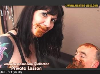 Hightide (Veronica Moser, 1 male) VM63 - PRIVATE LESSON [HD 720p] Femdom, Shitting